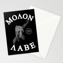 Molon Labe (Black Version) Stationery Cards