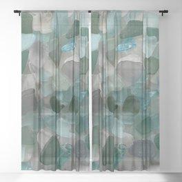 An Ocean of Mermaid Tears Sheer Curtain