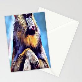 Mandrill Baboon Stationery Cards