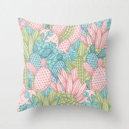 Pastel Cacti Obsession #society6 Throw Pillow