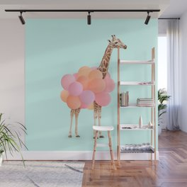 GIRAFFE PARTY Wall Mural