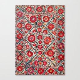 Kermina Suzani Uzbekistan Embroidery Canvas Print