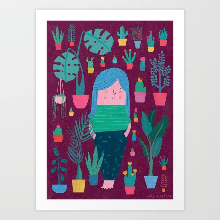 In My Garden In My Dreams Art Print