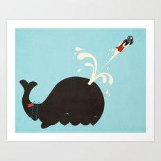 Avian Cannonball Art Print