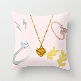 Jewellery Throw Pillow