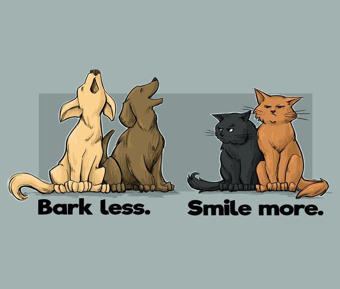 Bark Less. Smile More. Metal Travel Mug