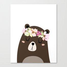 Woodland Bear Canvas Print