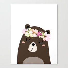 Woodland Bear Canvas Print