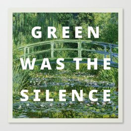 the silence Canvas Print