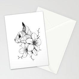 Sphynx cat & Sakura Blossoms Stationery Cards