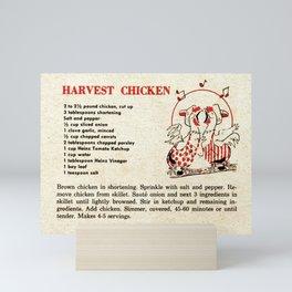 Harvest Chicken - Vintage Recipes Mini Art Print