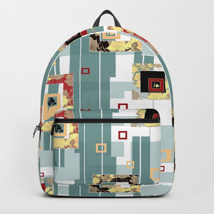 Abstraction print Backpack