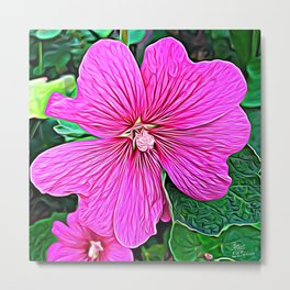Pink Flowers of Diamond Essence Metal Print