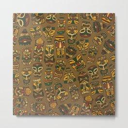Tiki Masks Metal Print