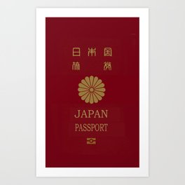 Japanese Passport Art Print