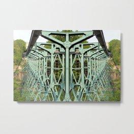 Which way? Dresden suspension railway. Metal Print