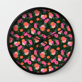 Miss Kit Floral Wall Clock