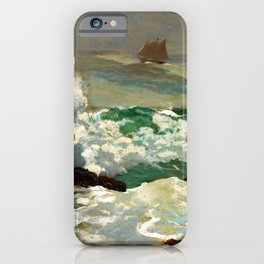 Winslow Homer1 - On A Lee Shore - Digital Remastered Edition iPhone Case