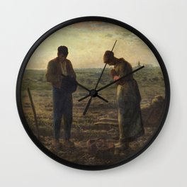 The Angelus by Jean Francois Millet Wall Clock