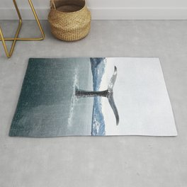 Whale In A French Lake Rug