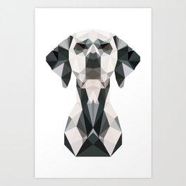 Low Poly Dalmatian Art Print