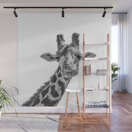 Giraffe | Peek-A-Boo | Animal Photography | Minimalism | Mammal | Wildlife | Nature Wall Mural