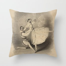 Elssler Hermine Madlle Elsler sic  Mr Gilbert in The spirit of airAdditional Spirit of air Throw Pillow