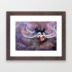 Borealis Wolf Framed Art Print