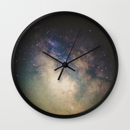 Erupting Galaxy Wall Clock