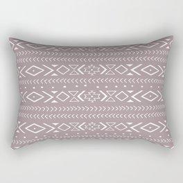 boho spirit: red Rectangular Pillow