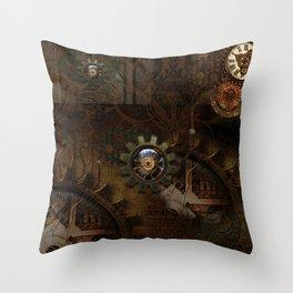 Noble steampunk design Throw Pillow