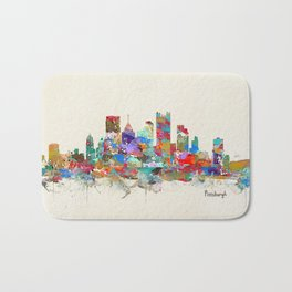 Pittsburgh Pennsylvania skyline Bath Mat