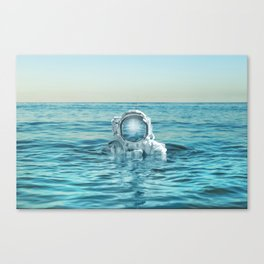 scuba space Canvas Print