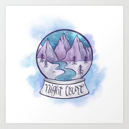 NIGHT COURT SNOW GLOBE Art Print