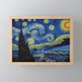 Pixel Starry Night Framed Mini Art Print