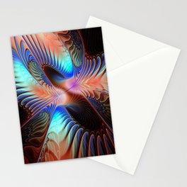 flames on black -603- Stationery Cards