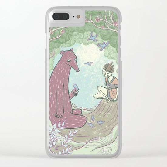 Bear and Bird Clear iPhone Case
