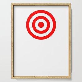 Bullseye Target Red & White Shooting Rings Serving Tray