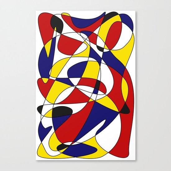 MONDRIAN AND GAUSS Canvas Print