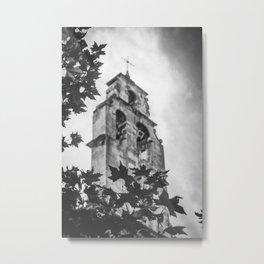 Church and Tree Metal Print