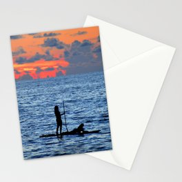 Together on the ocean Stationery Cards