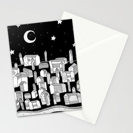 Sleepy Town Stationery Cards