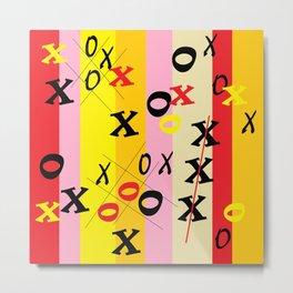 X's and O's Metal Print