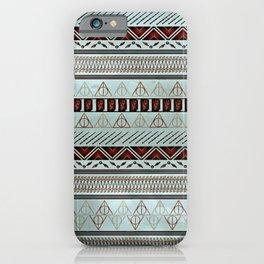 Harry Tribal Print Potter- Horcrux Blue iPhone Case