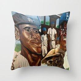 Negro League Mural Throw Pillow