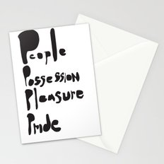 People, possession, pleasure, pride.     [WISE WORDS] [WORDS] [BIBLE] [BIBLICAL] Stationery Cards
