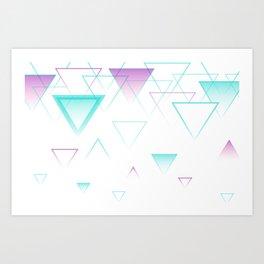 Triangles Falling Down Art Print
