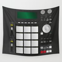 drum Wall Tapestries featuring DRUM MACHINE by LTR ARTWORK