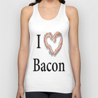 bacon Tank Tops featuring I -bacon- Bacon by Beatrice