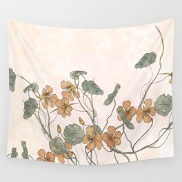 Winding flowers Wall Tapestry